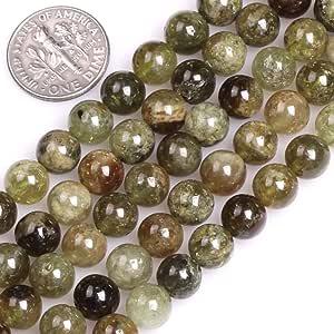 GEM-inside 天然 12 毫米绿色沙弗洛石珠 用于珠宝制作散珠串 38.1 厘米 8 毫米 8mm GM16769