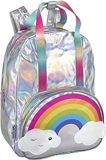 dELIAS 女孩中学生背包 - 彩虹背包适合女孩、青少年、学校