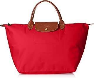 Longchamps 女式 中号 Le Pliage 手提包 尼龙手提包 红色服装 单一尺寸