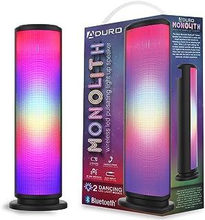 Aduro LED 藍牙音箱,帶脈動燈,無線變色便攜式戶外派對塔揚聲器通用