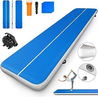Popsport 充气气滚垫系列 空气轨道体操垫气垫气质地垫 体操翻滚垫 适合家庭使用/啦啦队/海滩/公园和水