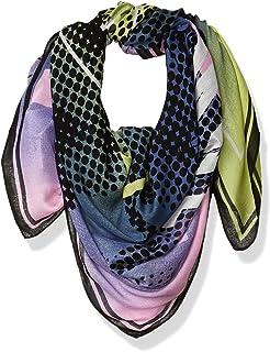 A X Armani Exchange 女式 Niemeyer 印花徽标粘胶围巾,OS