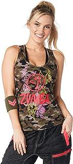 Zumba 柔软图案印花舞蹈健身背心锻炼文胸女式上衣