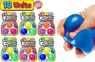 JA-RU 迷你弹力球 弹力柔软 3 种(1 包)挤压攻击*玩具,适合儿童和成人。 *手部*或感官按摩。 | 5567-1p 每包6条 Mini 3 Pack
