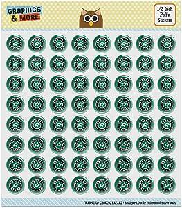 "NHL 达拉斯星标志蓬松圆顶剪贴簿手工贴纸套装 ""Multi"" 0.5 Inch Stickers PUFFY.RND-0.5.NHL01.Z005559_8"