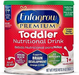 Mead Johnson 美赞臣 Enfagrow优质 欧米茄3 DHA益生元(Formerly 幼儿Next Step)幼儿营养奶粉,1-3岁,香草味,24盎司/ 约680.39克罐装 来源于Enfamil的制造商