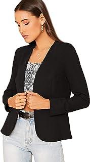 Romwe 女式长袖休闲前开襟办公西装外套