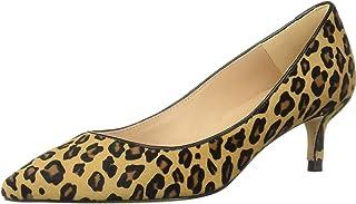 L.K Bennett 女式 Audrey Haircalf 豹纹印花尖头细高跟鞋 天然 36.5 M EU (6.5 US)