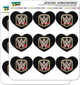 """WWE 世界重量级冠军头标志心形记事本日历剪贴簿工艺贴纸 透明 18 2"""" Stickers SCRAP.CL.HRT02.WWEGAM01.Z005390_8"""