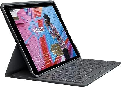 罗技 iPad 10.2英寸 对应*7代键盘iK1055BK SLIM FOLIO/iK1055BK