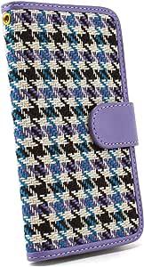 whitenuts 保护壳 手册式 千鸟 格子WN-OD074743 13_ DIGNO DUAL 2 WX10K 紫色