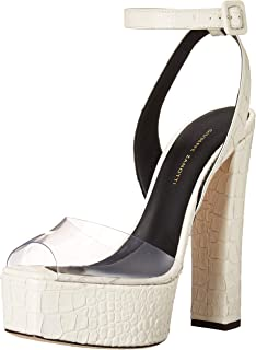 Giuseppe Zanotti 女式 E000096 高跟凉鞋,透明,11.5 中码 US