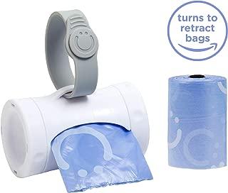Ubbi On The Go 灰色袋分装器和垃圾袋替换装,薰衣草香味,婴儿储蓄包 白色