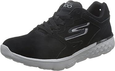 Skechers 斯凯奇 GO RUN 400系列 女 生活休闲鞋 简约轻质跑鞋 14801-BKGY 黑色/灰色 39 (US 9)
