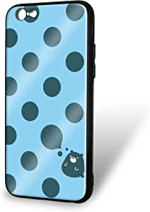 白色坚果 壳 玻璃印刷TPU 图案 (wn-141-147) 智能手机壳 对应全部机型WN-PR386714 1_ iPhone6s B款