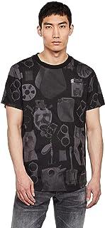 G-STAR RAW 男式睫毛材质图案直筒 T 恤