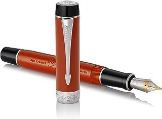 PARKER 派克 复古红色钢笔 Duofold经典,细笔尖,蓝墨水