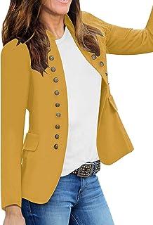 GRAPENT 女式商务休闲纽扣口袋前开西装开衫