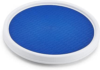 Copco 2555-0191 防滑Pantry 橱柜懒洋洋娃娃转盘,9 英寸,白色/灰色 白色/蓝色 12英寸 5224642
