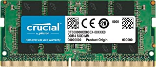 Crucial Single DDR4 (PC4-21300) SR x8 SODIMM 260-Pin 內存條CT16G4SFD832A 3200 MT/s 16GB Dual Rank