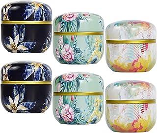 Tosnail 6 件装迷你茶保鲜盒茶罐咖啡罐食品保鲜盒,适用于茶、咖啡、草本、糖果、香料、蜡烛