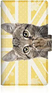 NYAGO x CaseMarket 【手册式】 SO-04F Xperia A2 皮革 细长 壳 针脚模型 [NYAGO 笔记本 可爱 把肉球弄成蜡笔的样子~ 猫咪 独特 猫~。] 皮革手册 2016 NEW 针脚 & 挂绳孔SO-04F-VCM2S2436 黄色