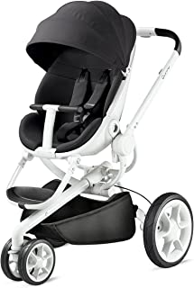 Quinny Moodd 婴儿车,带自动展开功能,双向停止位置,现代设计,适用于新生儿到3.5 岁的宝宝 Black Irony Einheitsgröße