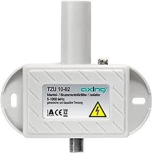 Axing TZU 10-02 大功率滤波器/防雾过滤器A类(5-1000 兆赫兹)F 接口有线电视DVB-T2 HD