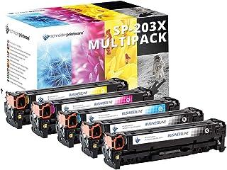 Schneider Printware 碳粉盒 40% 以上 兼容惠普 203X、203A、CF540X、CF541X、CF542X、CF543X 适用于 HP Color Laserjet Pro MFP M281fdw、M280nw、M281fdn、M254nw、M254dw、M254n