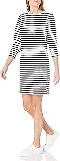 Amazon Essentials 女士标准圆领法式厚绒布羊毛连衣裙
