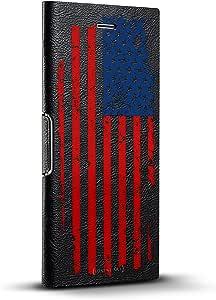 Luxendary 24K 系列设计师手机壳,适用于 iPhone 6/6s Hickory Black Leather Series iPhone 8/7/6 Plus