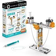 Engino - 蒸汽学院玩具 | 液压科学:静水压力和液压压 - STEM 搭建玩具,带学习活动和实验(4 个模型选项)