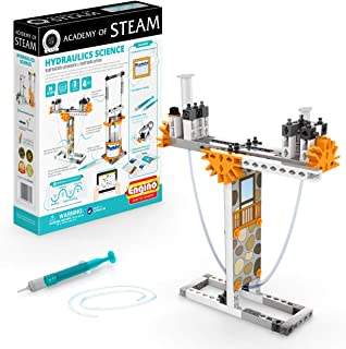 Engino - 蒸汽學院玩具 | 液壓科學:靜水壓力和液壓壓 - STEM 搭建玩具,帶學習活動和實驗(4 個模型選項)