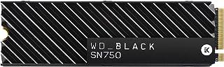 Western Digital Black SN750 1TB NVMe 内置游戏固态硬盘 带散热器-Gen3 PCIe,M.2 2280,3D NAND-WDS100T3XHC