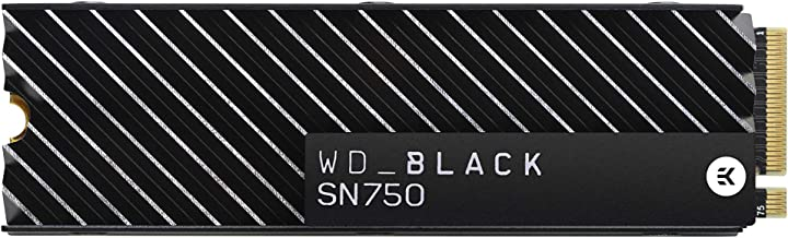 WD 西部數據 黑色 SN750 250GB NVMe 內部游戲固態硬盤 - Gen3 PCIe,M.2 2280,3D NAND - WDS250G3X0CWDS100T3XHC SSD with Heatsink 1TB