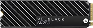 WD 西部数据 黑色 SN750 250GB NVMe 内部游戏固态硬盘 - Gen3 PCIe,M.2 2280,3D NAND - WDS250G3X0CWDS100T3XHC SSD with Heatsink 1TB