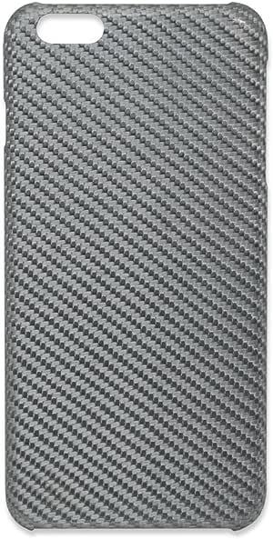 织物纹路漂亮的强化纤维制手机壳iPhone 6系列* / 【Deff】monCarbone HoverKoat iPhone 6/6Plus CaseHK006LS iPhone 6 Plus 银色