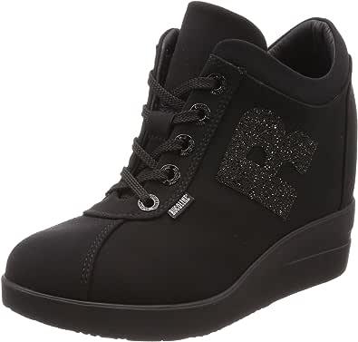 [Rucoline] 运动鞋 [Rucoline] 6226 Nicole SW Nero 女士 增高运动鞋 [官方] RU453BW03611134 尼龙搭扣 24.0 cm