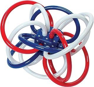 Manhattan Toy 曼哈顿玩具 红色,白色和蓝色Winkel摇铃和牙胶婴儿玩具