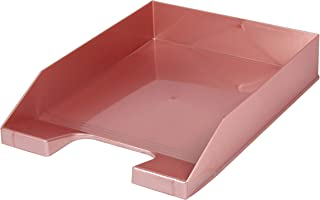 信纸托盘 A4 可堆叠 粉金 4 件