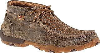 扭曲 X 青年皮革系带橡胶鞋底驾车 moccasinss–飞行员/棕褐色