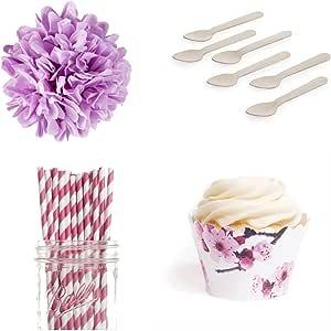 Dress My Cupcake Dessert Table Party Bundle, Standard, Sakura Cherry Blossom