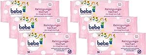 bebe Zart护理湿巾,儿童护理湿巾,6件装(6 x 56件)