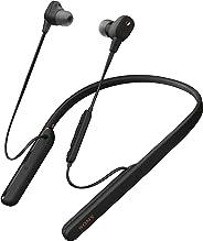 Sony 索尼 WI-1000XM2 無線藍牙高分辨率入耳式耳機(降噪,耳機,免提設備,亞馬遜Alexa,10小時電池,頸帶風格)WI1000XM2B.CE7 onesize