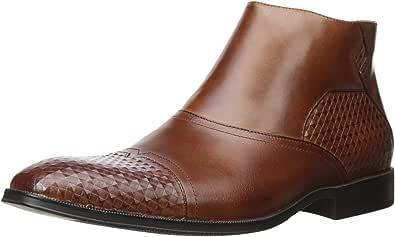 Stacy Adams 男士 Faramond 改装鞋头切尔西靴 干邑色 8 M US