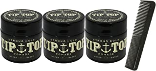 Tip Top Strong Hold Water Based Pomade 4.25 盎司 3 瓶装