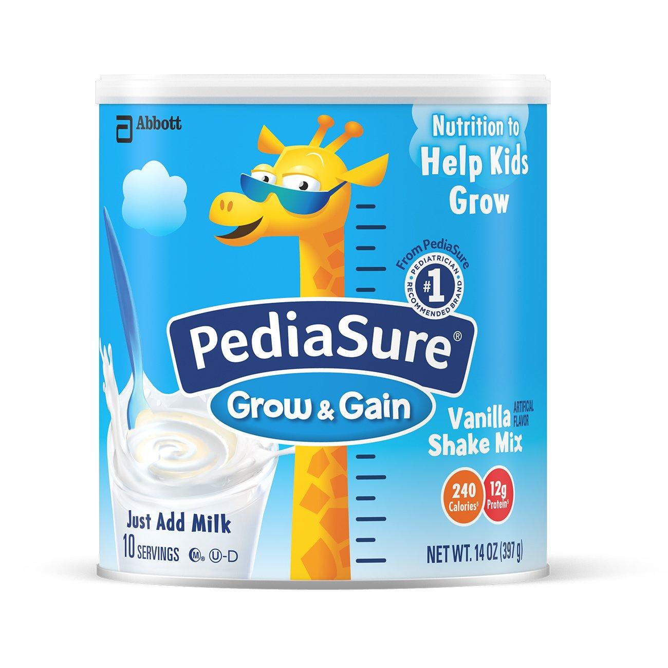 PediaSure 雅培奶粉  香草口味 2 罐-14 盎司罐