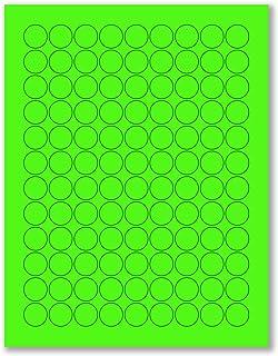8-1/2 x 11 英寸 霓虹色高光荧光标签适用于激光和喷墨打印机 3.4375 x .66 - 30 Per Page | 3000 Labels 橙色荧光灯