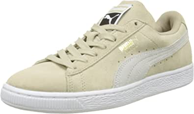 PUMA 女式麂皮经典低帮运动鞋, cameo Braun Beige (Safari-white) 4 UK
