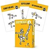 运动卡片身体健身 - 家庭健身锻炼个人训练健身计划指南音调核心 Ab 腿胶囊胸肌 整体上身锻炼 Calisthenics 训练例程